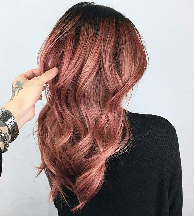 màu tóc hồng đẹp 2018