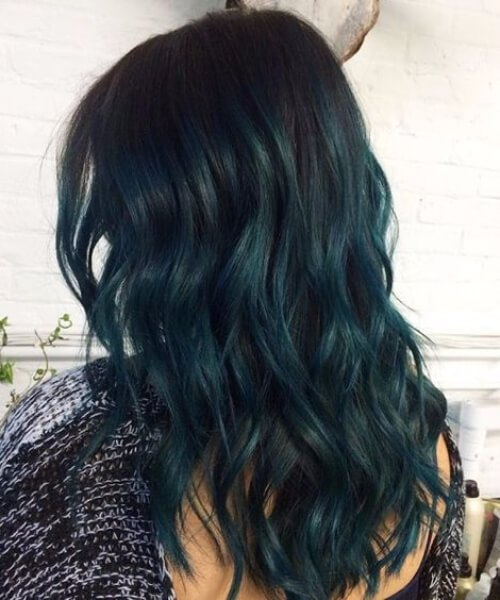 tóc màu rêu đẹp
