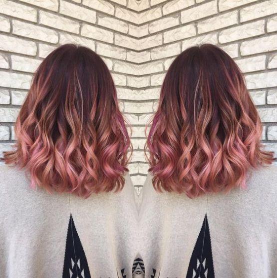 tóc màu hồng đẹp