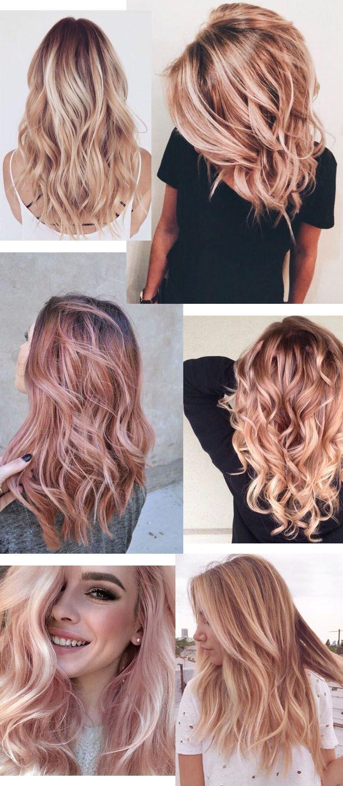 tóc màu vàng hồng