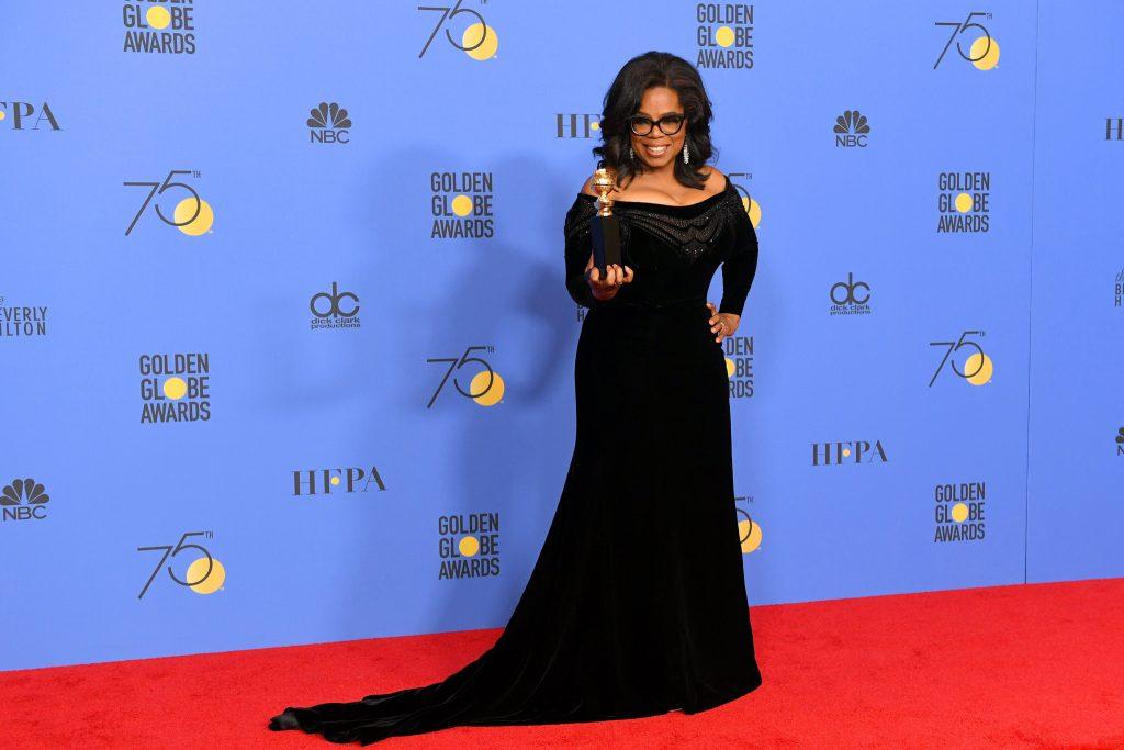 Oprah Winfrey tại Quả Cầu Vàng 2018