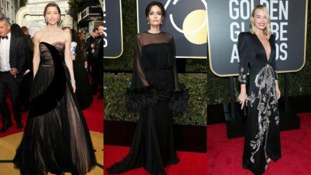 33 thiết kế màu đen tuyệt đẹp trên thảm đỏ lễ trao giải Quả Cầu Vàng 2018