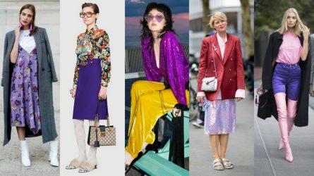 Mặc trang phục tím theo xu hướng thời trang 2018 như thế nào?