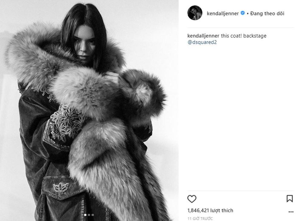 Kendall Jenner vấp phải làn sóng chỉ trích vì mặc áo lông thú trên sàn catwalk