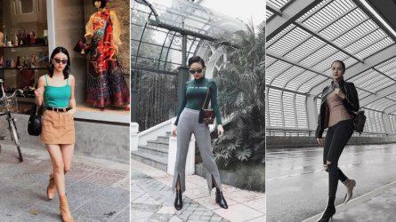 Sao Việt đón đầu xu hướng boots cổ thấp thời thượng 2018 như thế nào?