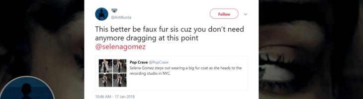 Selena Gomez đối mặt với phản ứng gay gắt vì diện áo khoác lông thú