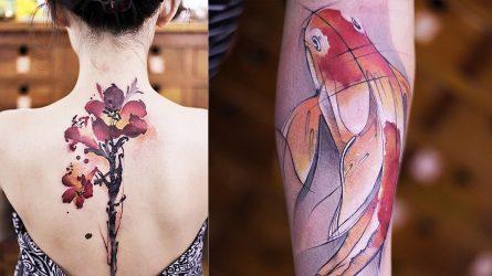 Xăm hình nghệ thuật theo phong cách tranh thủy mặc cổ điển