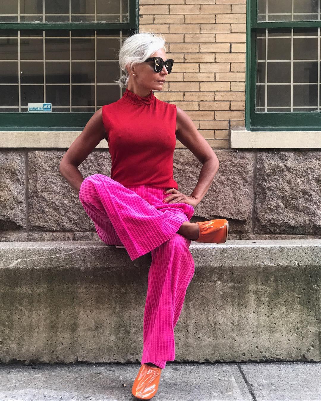 thời trang bất chấp tuổi tác của cụ bà tuổi 52 4