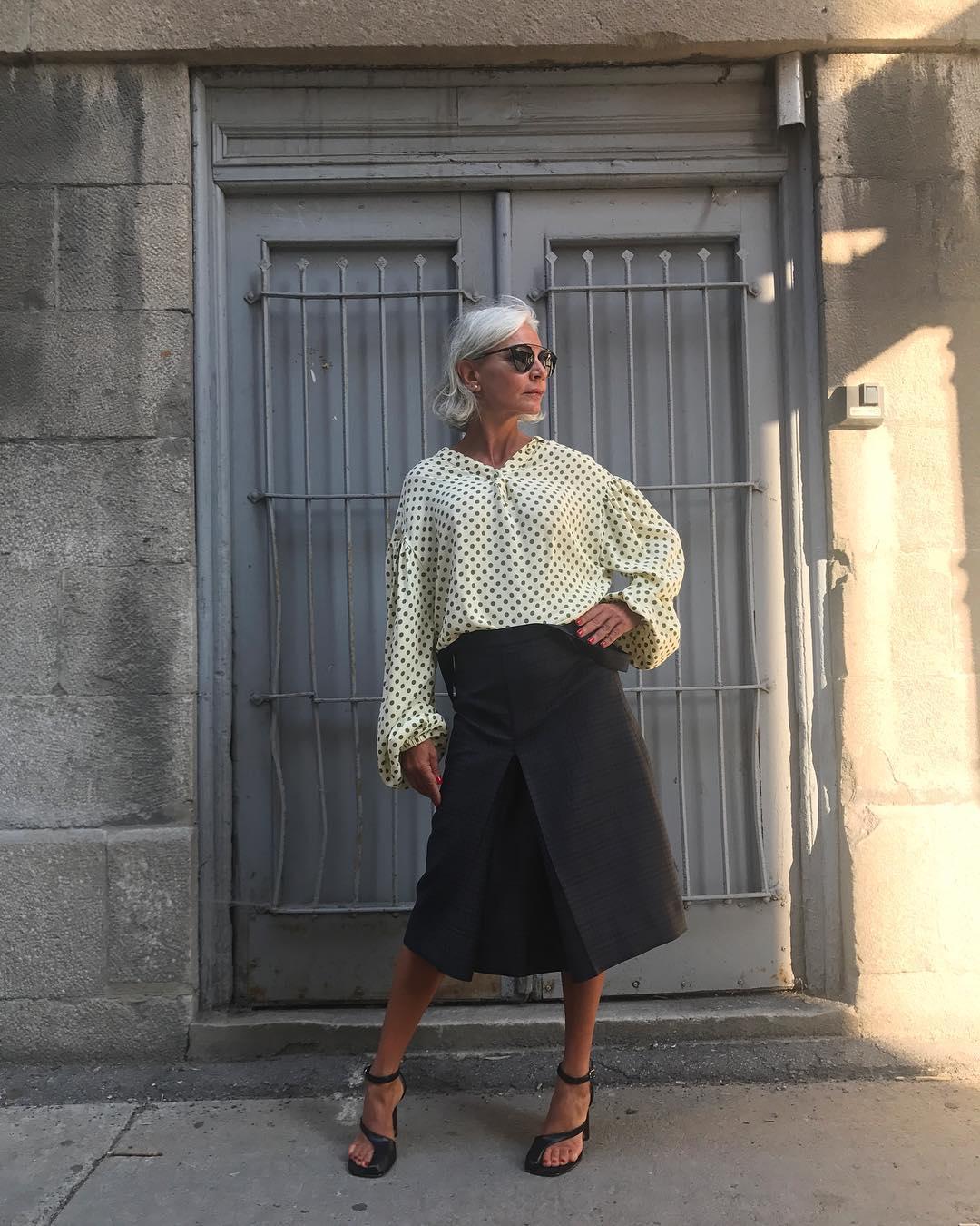 thời trang bất chấp tuổi tác của cụ bà tuổi 52 11