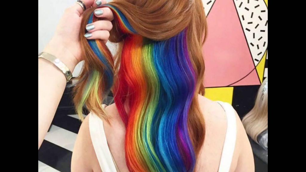 mau tóc nhuộm đẹp cầu vồng 2