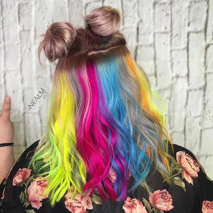 màu tóc nhuộm đẹp cầu vồng 7