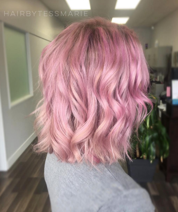 màu nhuộm tóc đẹp pinky hair 6
