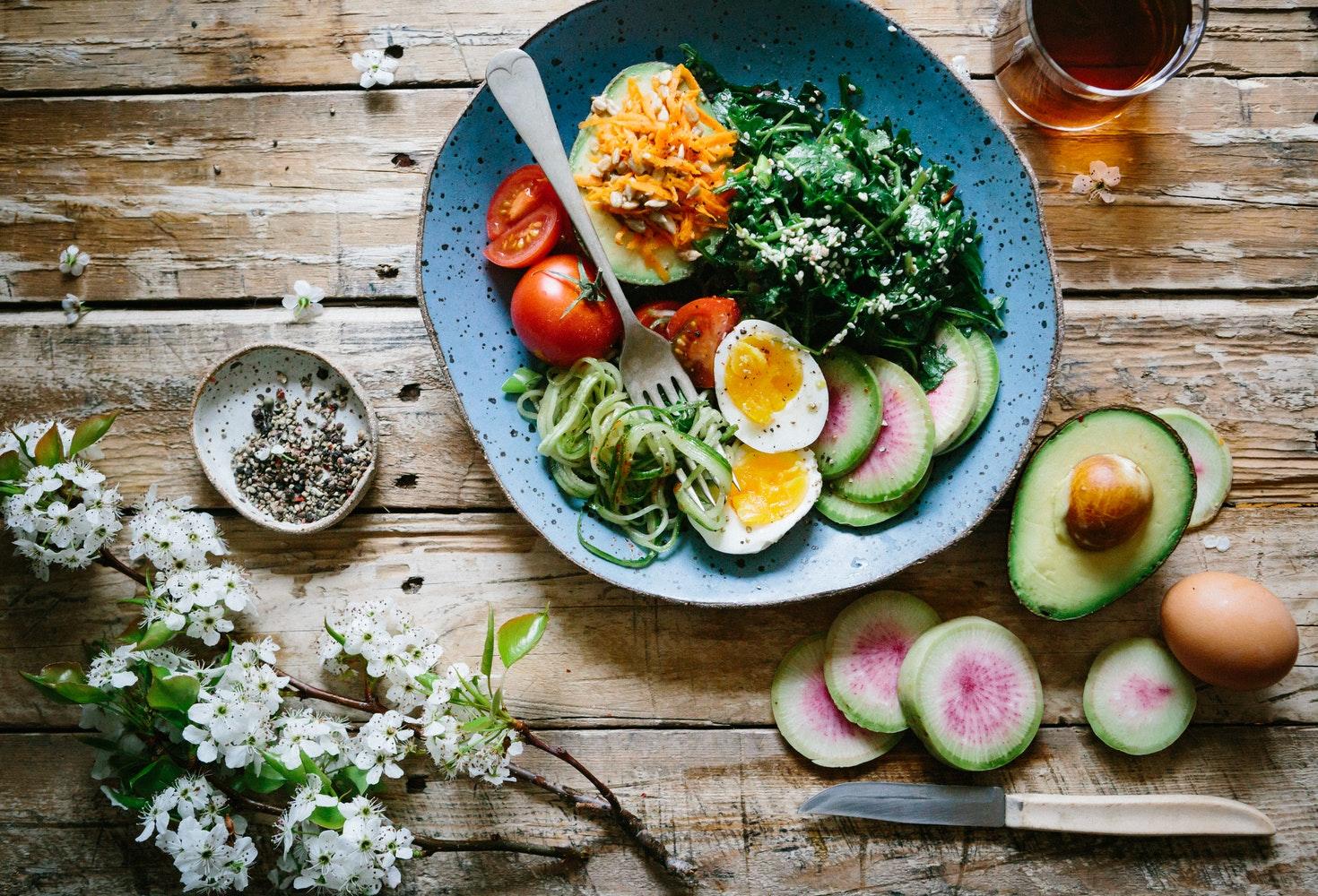ăn chay giảm cân thiếu trứng
