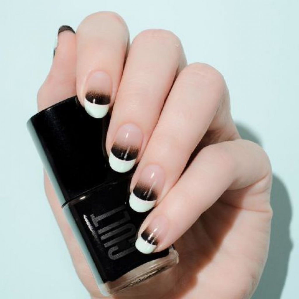 mẫu sơn móng tay đẹp kiểu Pháp 12