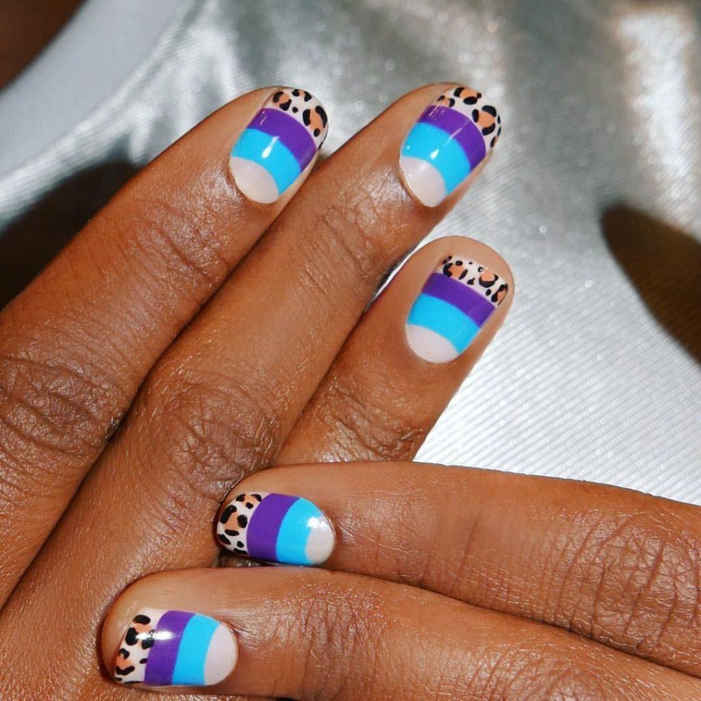 mẫu sơn móng tay đẹp kiểu Pháp 14