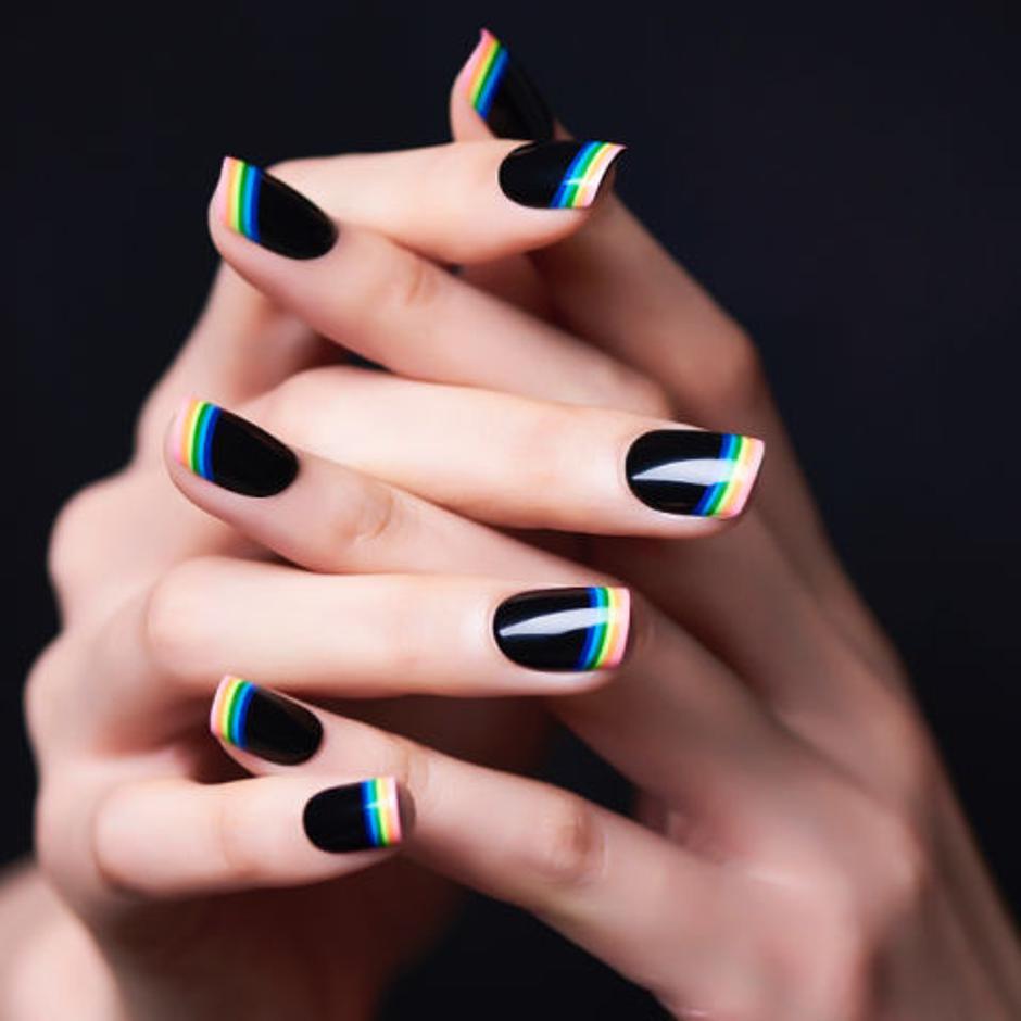 mẫu sơn móng tay đẹp kiểu Pháp 3