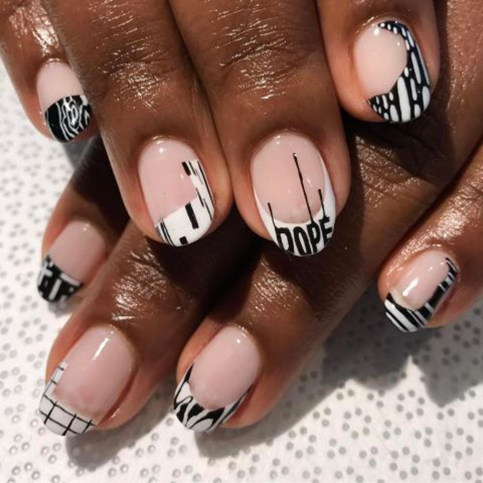 mẫu sơn móng tay đẹp kiểu Pháp 5