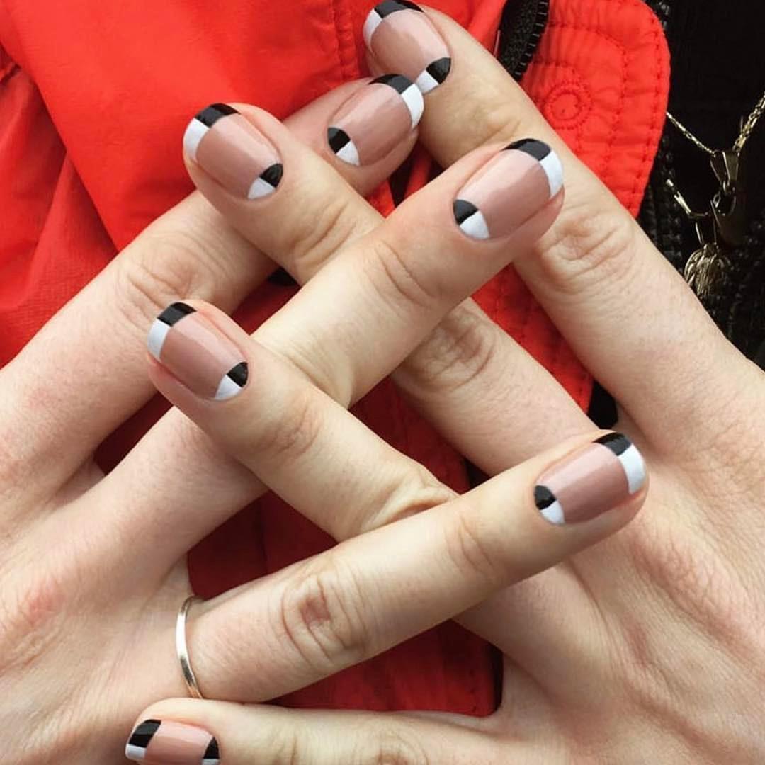 mẫu sơn móng tay đẹp kiểu Pháp 11