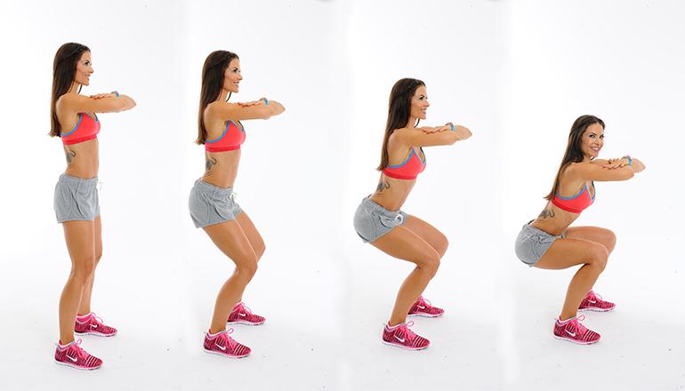 bài tập squat đúng cách 2