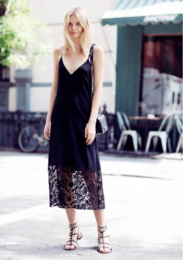 đầm slip dress