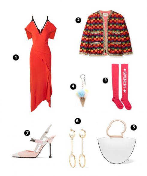 Look 7: Rouland Mouret – Gucci – Givenchy – Fendi – Danse Lente – Chlóe – Prada