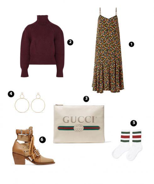 Look 2: Bottega Veneta – Ganni – Gucci – Natasha Schweitzer – Gucci – Chlóe