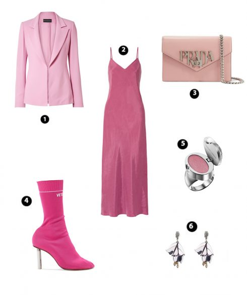 Look 6:  Hatch – Brandon Maxwell – Prada – Vetements – Plush Ring Lipgloss Ring Butter London – Oscar De La Renta
