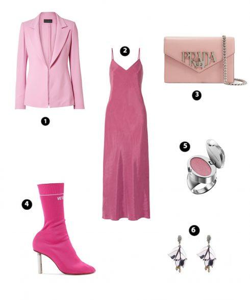 Look 6:  Hatch – Brandon Maxwell – Prada – Vetements – Plush Ring Lipgloss Ring Butter London – Oscar De La Renta