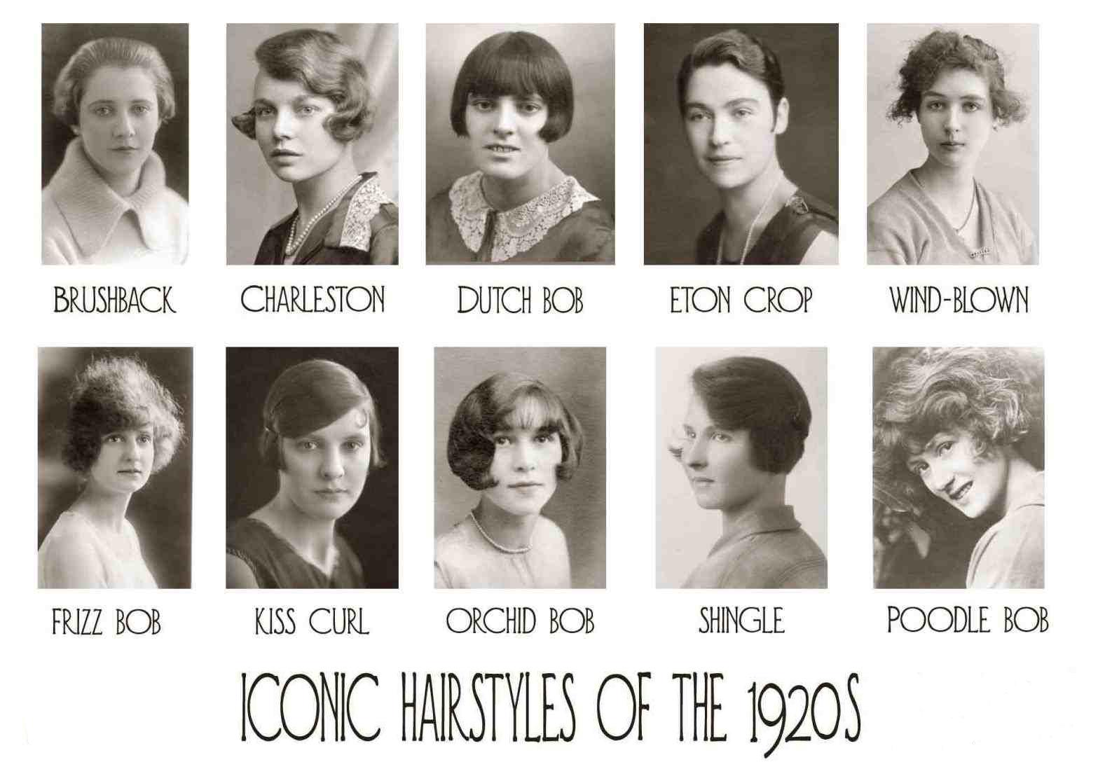 Các kiểu tóc bob phổ biến trong thập niên 1920