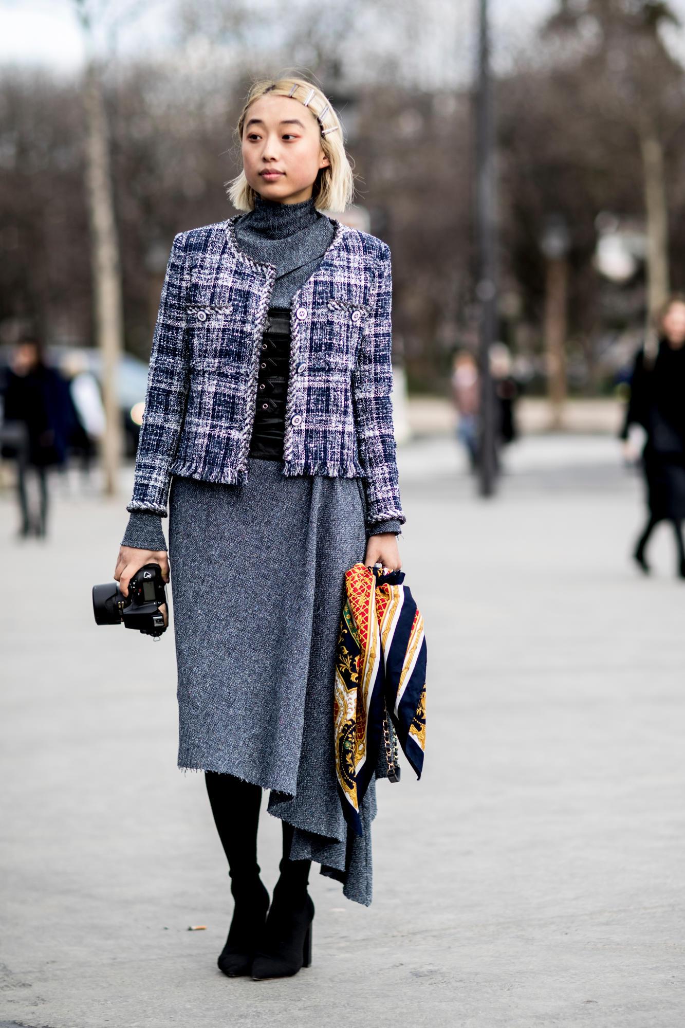 Thương hiệu Chanel street style Tuần lễ thời trang Paris 10