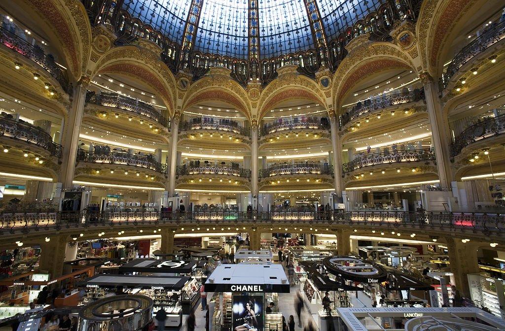 du lịch paris mua sắm mỹ phẩm galeries lafayette