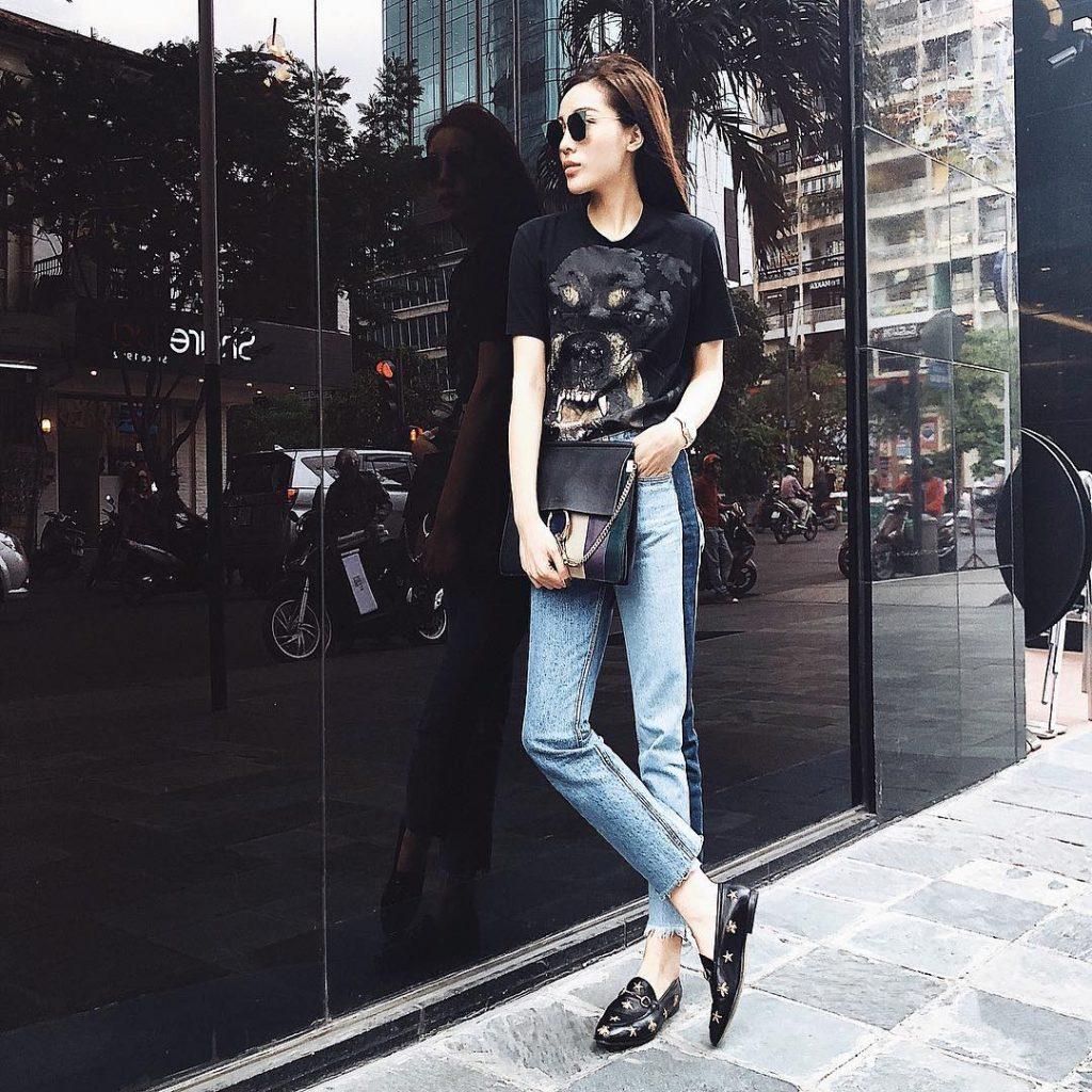 Xu hướng thời trang quần jeans được nhiều sao Việt ưa chuộng 4