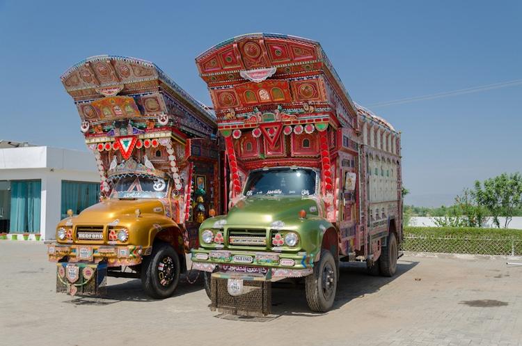 xe tải leng keng ở Pakistan 1
