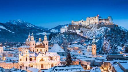 Mùa đông châu Âu, mơ hồ và huyền diệu một màu tuyết trắng