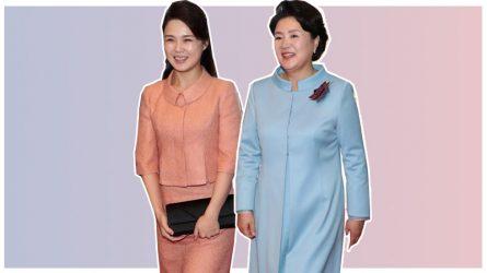 Đệ nhất phu nhân Triều Tiên mang túi Dior trong cuộc gặp lịch sử với Hàn Quốc
