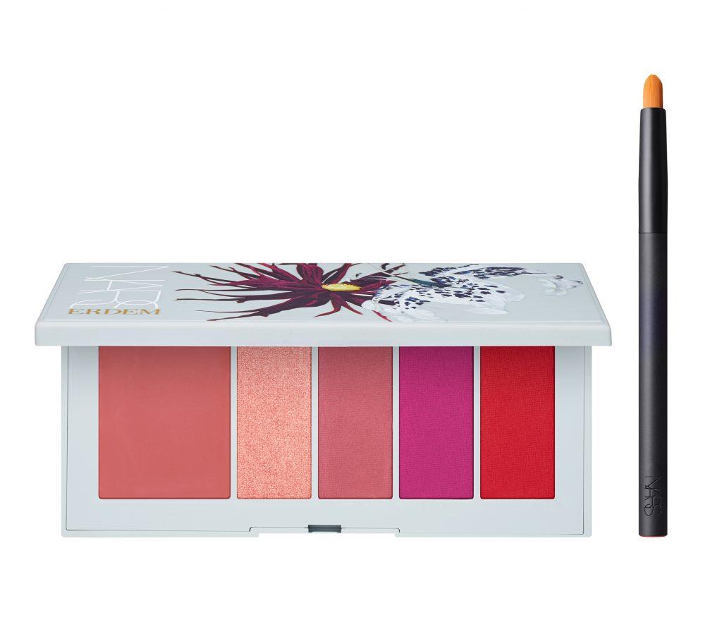 Erdem for NARS Strange Flowers Collection - Poison Rose Lip Powder Palette Open with Travel Lip Brush