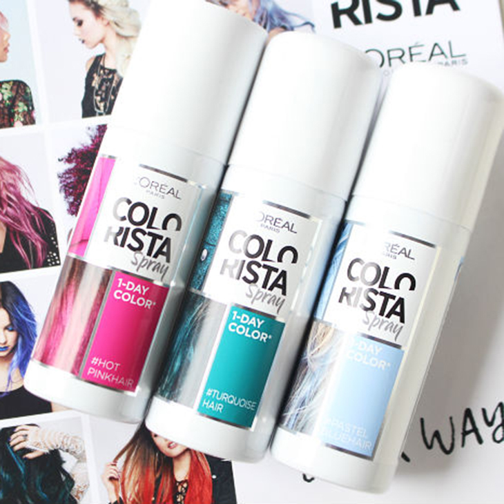 tóc màu vàng hồng L'Oréal Paris Colorista 1-Day Spray in Rose Gold