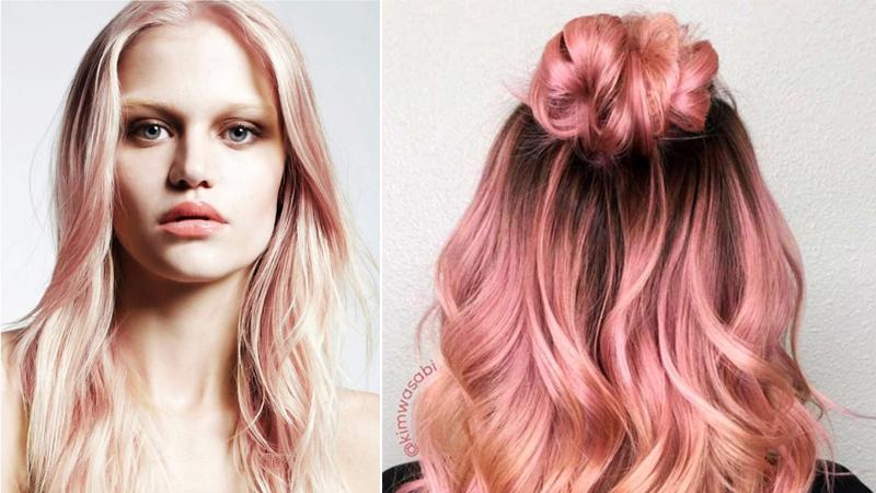 xu hướng màu tóc 2018 rose gold