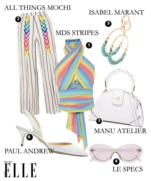 Look3: MDS Stripes - All Thing Mochi – Manu Alterlier – Le Specs – Isabel Marant – Paul Andrew
