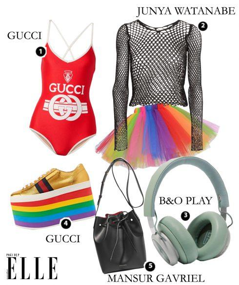 Look4: Gucci – Junya Watanabe – B&O Play – Mansur Gavriel – Gucci