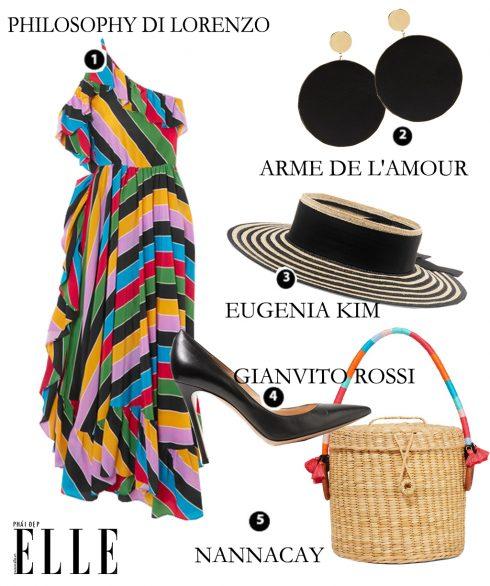Look5: Philosophy Di Lorenzo Serafini – Arme De L'Amour – Eugena Kim – Gianvito Rossi – Nanacay