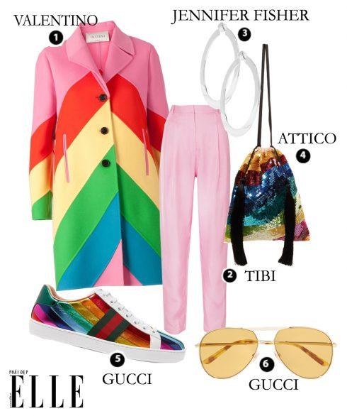 Look7: Valentino – Tibi – Jennifer Fisher – Attico – Gucci - Gucci