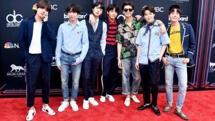 Ban nhạc BTS ấn tượng trong trang phục Gucci trên thảm đỏ Billboard Music Awards 2018