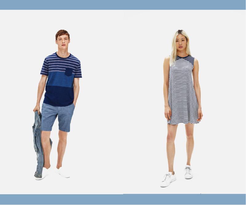 Trang phục đồng bộ cho cả gia đình vẫn là hướng đi mà thương hiệu GAP duy trì trong BST mới.