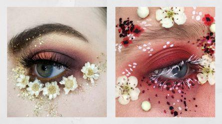 Gợi ý cách trang điểm mắt phá cách với hoạ tiết hoa cỏ mùa Hè