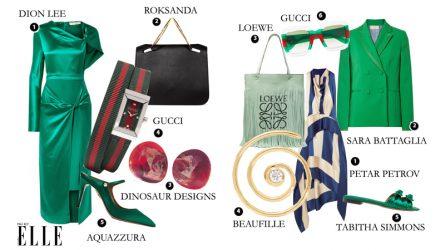 ELLE Style Calendar: Làm sao để mặc màu xanh lá thật phong cách? (11/6 - 17/6)