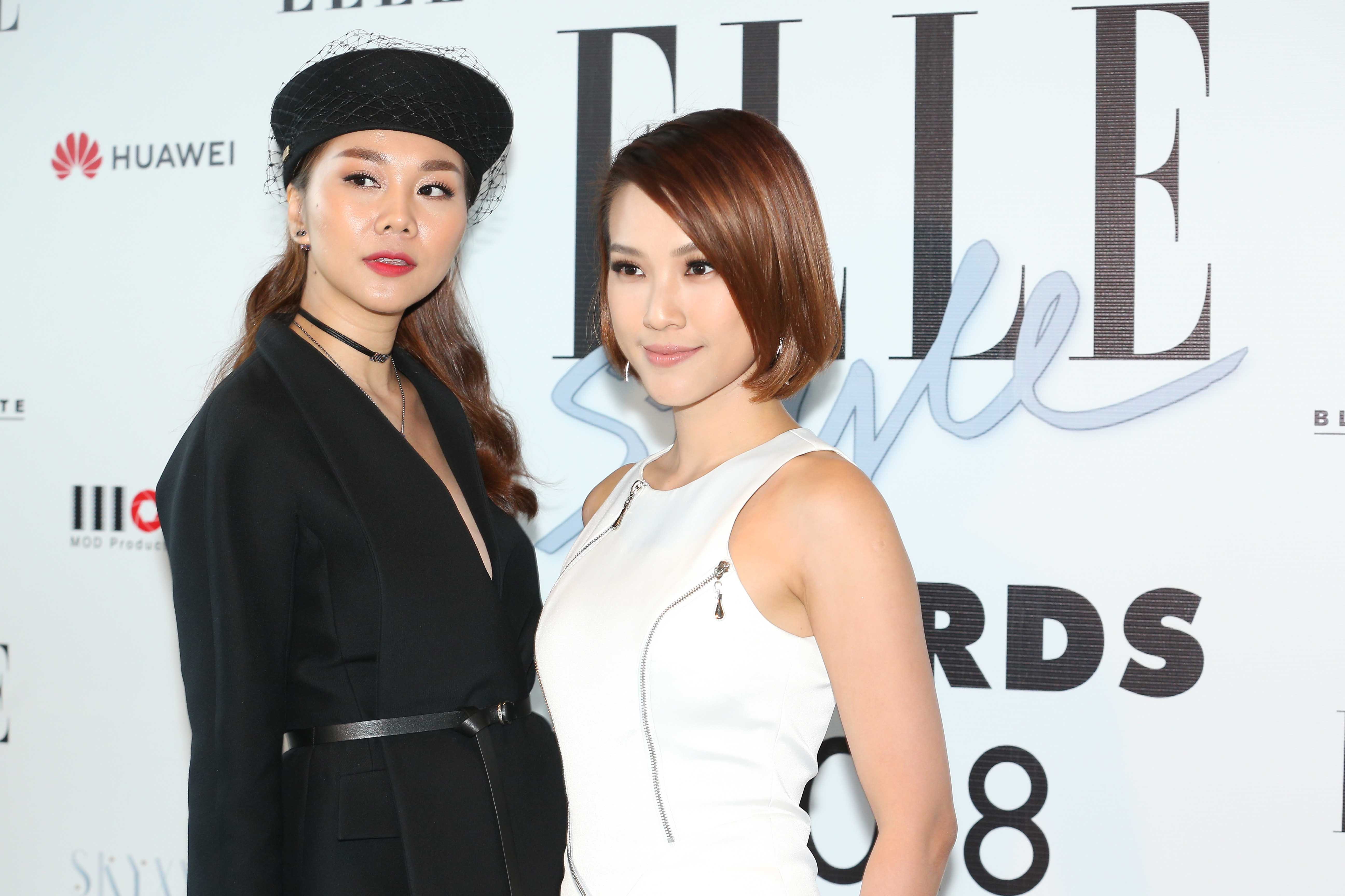 thanh hang va hoang oanh tai elle style awards 2018
