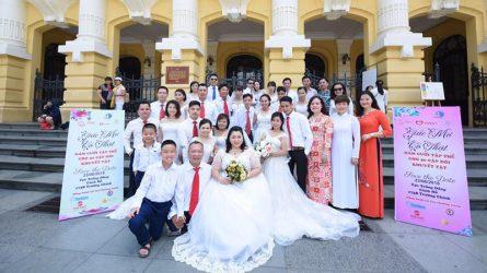 Hôn lễ của hơn 40 cặp đôi khuyết tật tại Hà Nội mang tên: