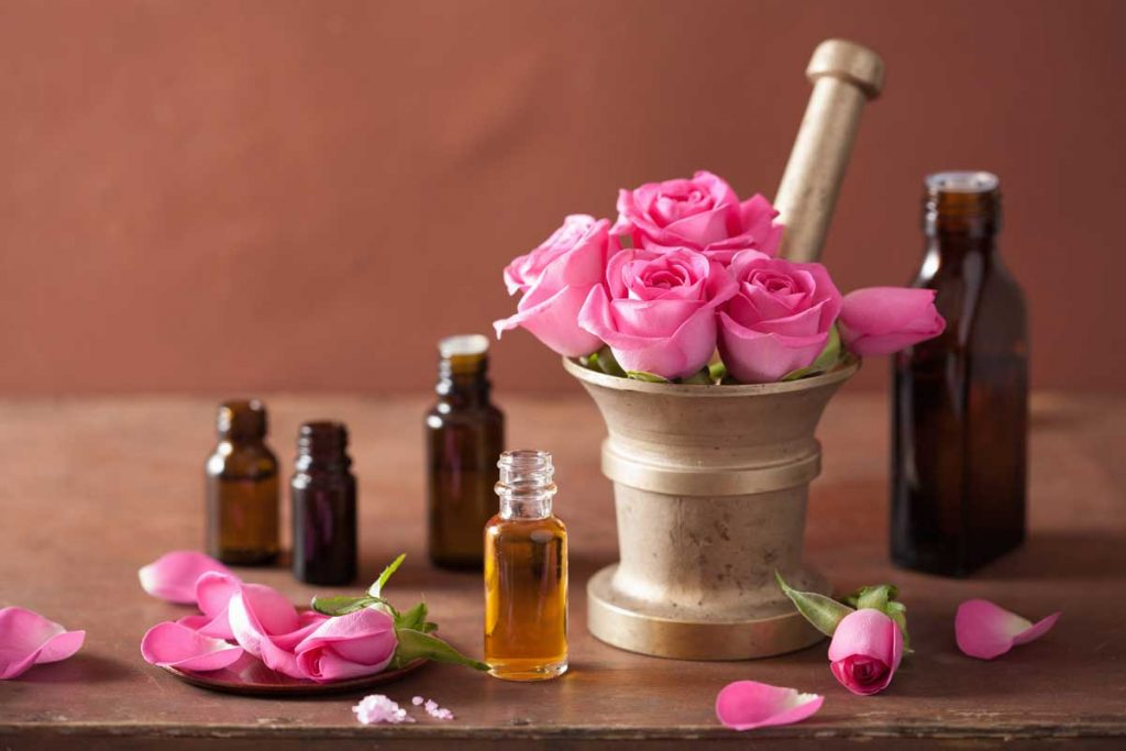 Dầu dưỡng da mặt hoa hồng