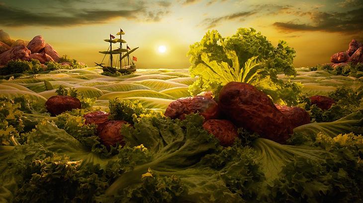tranh nghệ thuật đồ ăn 12